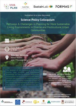 Invitation to Science-Policy Colloquium